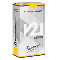 Vandoren V21 German Deutsche Klarinetten Blätter - 10 Einheiten